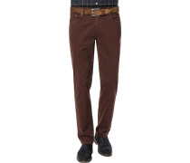 Jeans Seth, Tailored Fit, Baumwoll-Stretch, bordeaux