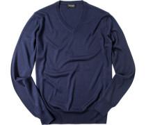 Pullover, Seide-Kaschmir, navy