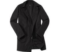 Herren Mantel Funktionsfaser wasserabweisend schwarz schwarz,schwarz