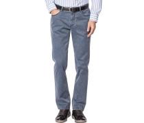 Jeans Seth Tailored Fit Baumwoll-Stretch graublau