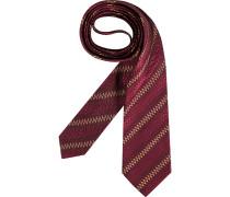 Herren Krawatte  beige,rot
