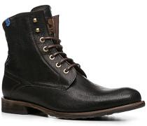 Herren Schuhe Stiefeletten Kalbleder warm gefüttert schwarz schwarz,braun