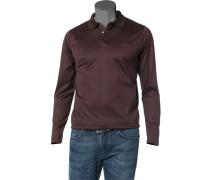 Herren Polo-Shirt Polo Baumwolle bordeaux rot