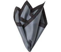 Accessoires Einstecktuch Seide nachtblau-graublau gemustert