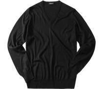 Herren Pullover -Seiden-Kaschmir-Mix schwarz