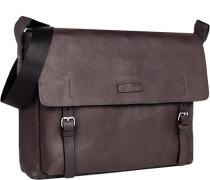 Tasche Business-Tasche, Leder, dunkelbraun