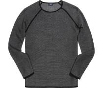 Pullover Pulli Baumwolle -weiß gemustert