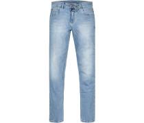Jeans Modern Fit Baumwoll-Stretch hellblau