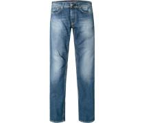 Jeans Slim Fit Baumwoll-Stretch meliert