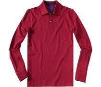 Herren Polo-Shirt Polo Baumwolle tomatenrot