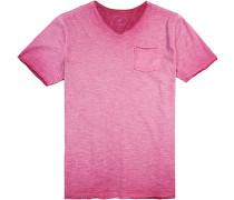 T-Shirt Modern Fit Baumwolle wildrose meliert