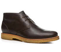 Herren Schuhe Desert Boot Leder dunkelbraun braun,beige