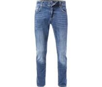 Blue-Jeans, Baumwolle, dunkelblau