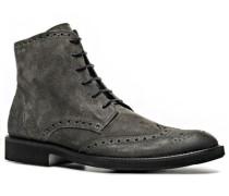 Schuhe Schnürstiefeletten Veloursleder