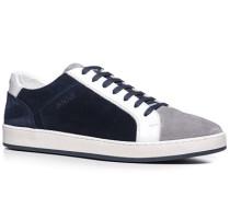 Herren Schuhe Sneaker Leder-Mix weiß-grau-navy blau,weiß,grau