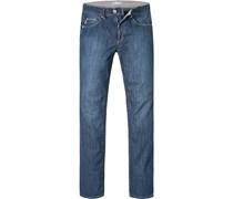 Herren Jeans Classic Fit Baumwoll-Stretch denim blau