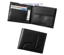 Herren Calvin Klein Blue-Jeans Geldbörse Leder schwarz