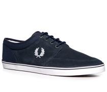Herren Schuhe Sneakers Veloursleder navy grau,blau,weiß