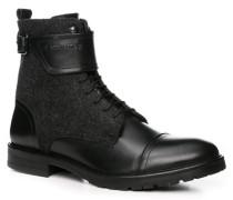 Herren Schuhe Stiefelette Material-Mix schwarz schwarz,schwarz