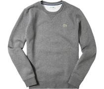 Sweatshirt, Baumwolle, mittelgrau meliert