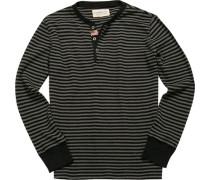Pullover, Baumwolle, -grau gestreift