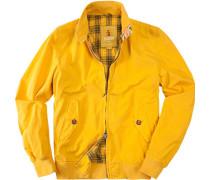 Herren Jacke Blouson Baumwolle gelb