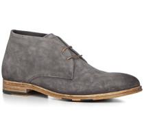 Schuhe Desert Boots Veloursleder carbone