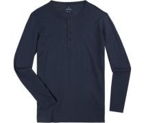 T-Shirt Longsleeve, Body Fit, Pima Baumwolle, navy