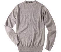 Pullover Kaschmir graubraun