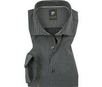 Hemd, Modern Fit, Baumwolle, marine-weiß gemustert