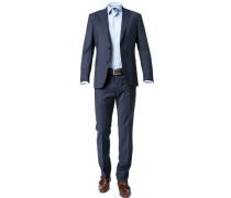 Anzug Modern Fit Schurwolle dunkelblau