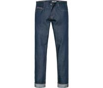 Jeans Sim Fit Baumwolle dunkelblau