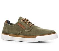 Schuhe Sneaker Baumwolle-Leder khaki