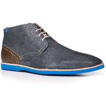 Herren Schuhe Stiefeletten Kalbleder blau blau,braun