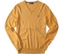 Pullover Merino-Baumwolle maisgelb