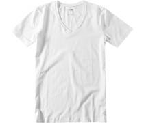 Herren T-Shirt Baumwoll-Jersey weiß