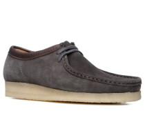 Herren Schuhe Mokassins Veloursleder dunkelgrau grau,beige