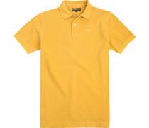 Polo-Shirt Polo Baumwoll-Piqué anis