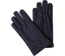 Handschuhe Wolle dunkelblau