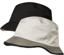 Wendehut Baumwolle sand-schwarz