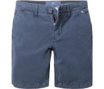 Herren Hose Bermudas Leinen-Baumwolle blau
