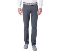 Herren Jeans Regular Fit Baumwoll-Stretch indigo meliert blau