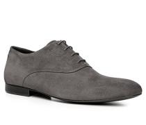 Schuhe Oxford, Veloursleder, anthrazit