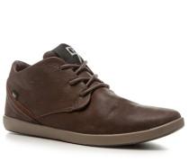 Schuhe Sneaker Nubukleder dunkelbraun