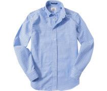 Flanellhemd Regular Fit hellblau-weiß kariert