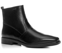 Herren Schuhe Stiefeletten Leder wasserdicht schwarz violett,beige