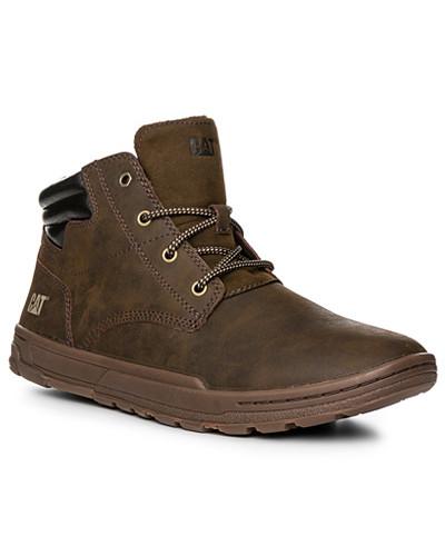 Schuhe Schnürstiefeletten, Nubukleder, dunkelbraun