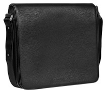 Herren Tasche  Umhängetasche Leder schwarz
