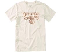 Herren T-Shirt Baumwolljersey cream weiß