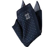 Accessoires Einstecktuch Wolle marineblau gemustert